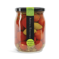 Pomodorini con Olive e Capperi